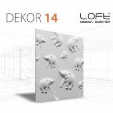 DEKOR 14 JUNGLE PANEL ŚCIENNY 3D LOFT SYSTEM
